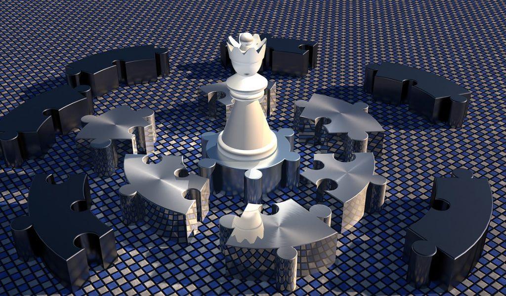 lady, chess piece, kreispuzzel